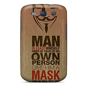 Galaxy S3 Case, Premium Protective Case With Awesome Look - Anonymous Quote