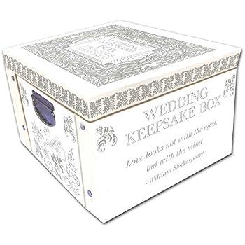 Amazon.com: White Wedding Keepsake Box A Lifetime Of Memories ...