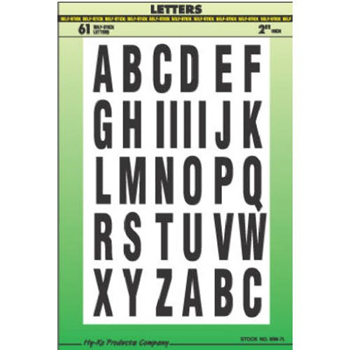 Hy-Ko MM-7L Vinyl Self-Stick Letters, 2