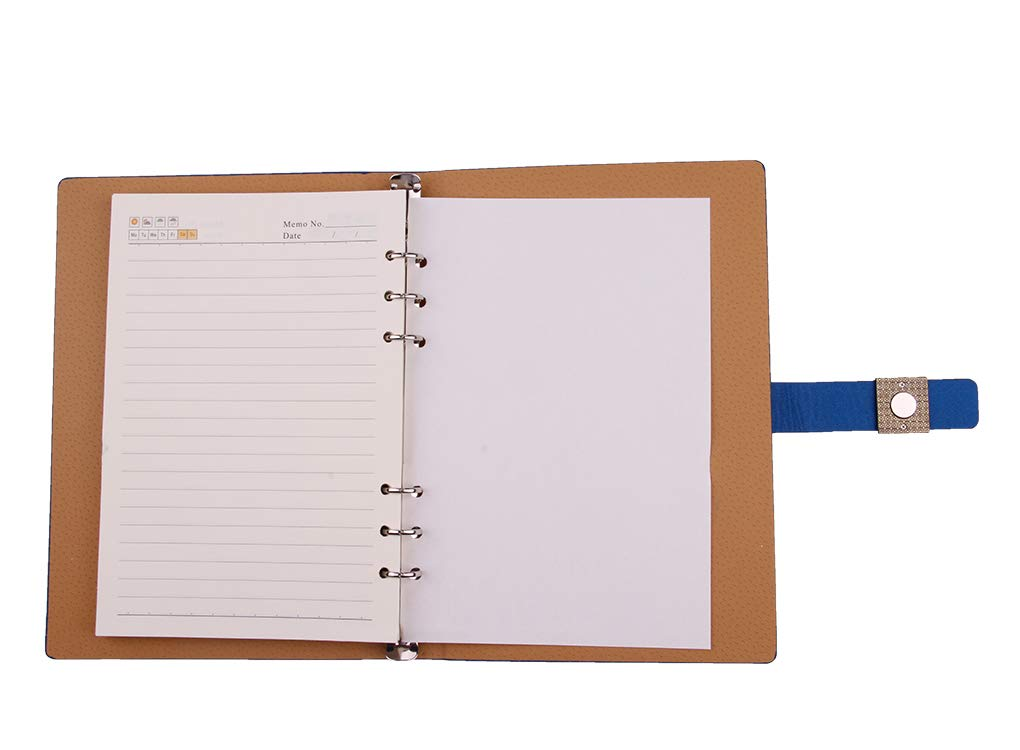 Supplies Work Diary Retro Business PU Leather Notebook Loose-leaf Notepad