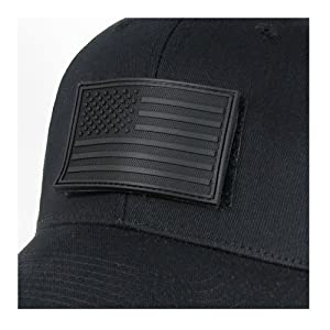 Rapdom Tactical USA Flag Rubber Patch, Black, 3 x 2-Inch