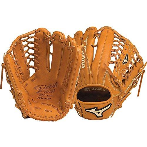 12.75 In Outfield Baseball Glove (Mizuno GGE71V Global Elite VOP Right Handed Throw Baseball Fielders Mitt, Caramel, 12.75-Inch)