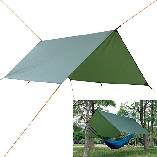 Autfit Hammock Rain Fly Waterproof Tent Tarp for Camping Backpacking and Survival Gear, Lightweight Ripstop Nylon and Aluminium Alloy Stakes by Autfit