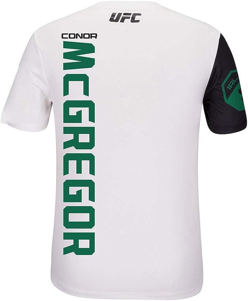 Camiseta oficial de combate para hombre Reebok Conor McGregor UFC color blanco y verde