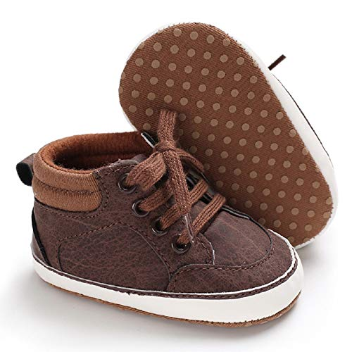 Meckior Save Beautiful Toddler Baby Girls Boys Shoes Infant First Walkers Sneakers (0-6 Months, D-Brown) ()