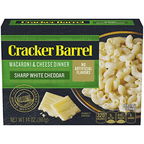 Cracker Barrel Macaroni & Cheese Dinner Sharp White Cheddar, 14 oz Box