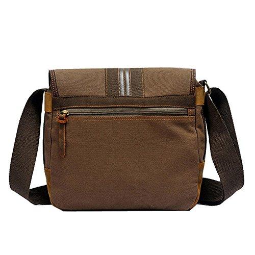 Canvas Color Comfortable Bag Retro Messenger Shoulder brown Simple Bag Shopping Zip taZF1wWq