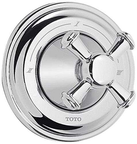 - Toto TS220XW#BN Vivian Three-way Diverter Trim- Cross Handle, Brushed Nickel