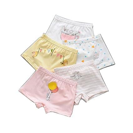 WJY Ropa Interior De Niña Imprimir Dibujos Animados Pantalones Cortos Algodón Suave Antibacteriano Calzoncillos Boxer para
