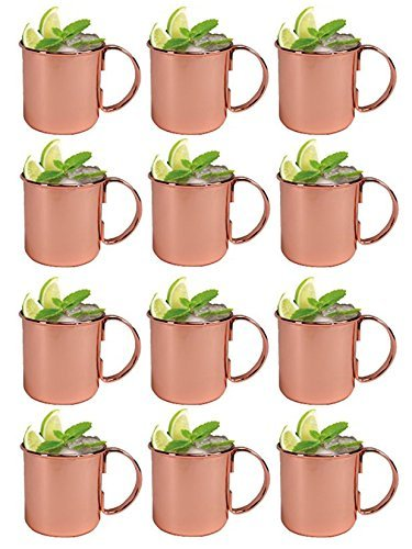 Panchal Creation Moscow Mule Copper Mug 16oz Set of Twelve - 12 Pack by Panchal Creation