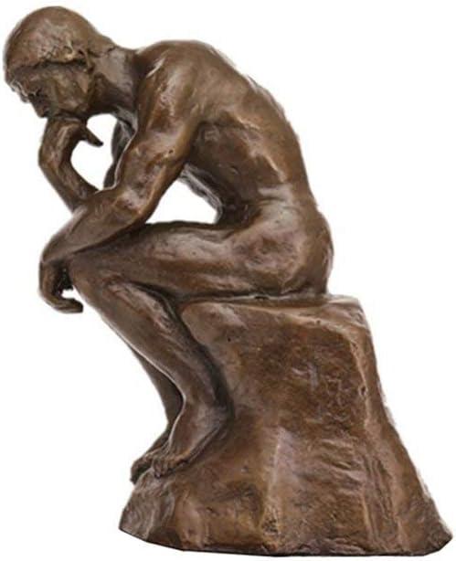 Toperkin The Thinker Statues TPE-185B Bronze Rodin Sculptures Home Decor Figurines