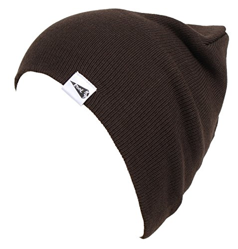 KooL Hop Kids Boys Girls Baby 100% Pure Cotton Knit Basic Beanie Hat Cap - Brown Baby Beanie