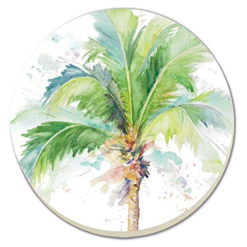 - CounterArt Palm Tree Watercolor Absorbent Coasters, Set of 4