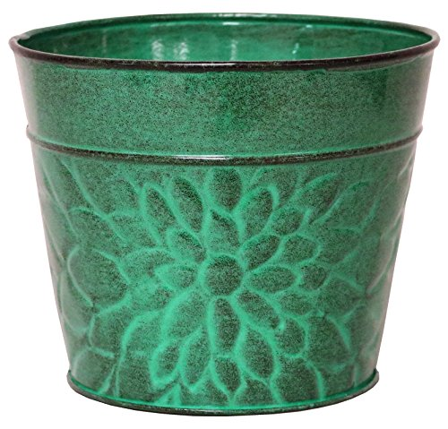 Robert Allen MPT02004 Laurel Series Metal Planter Flower Pots, 6