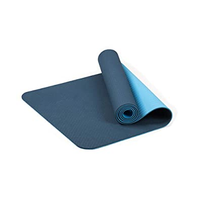 Amlaiworld Yoga Mat Extra Thick Mat TPE Eco Friendly Non Slip Fitness Exercise Mat (Blue): Clothing