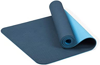 Amazon Com Nihewoo Yoga Mat Eco Friendly Non Slip Fitness Exercise Mat Exercises Pad Workout Mat For Yoga 183 X 61 X 0 6 Cm Multicolor B Clothing