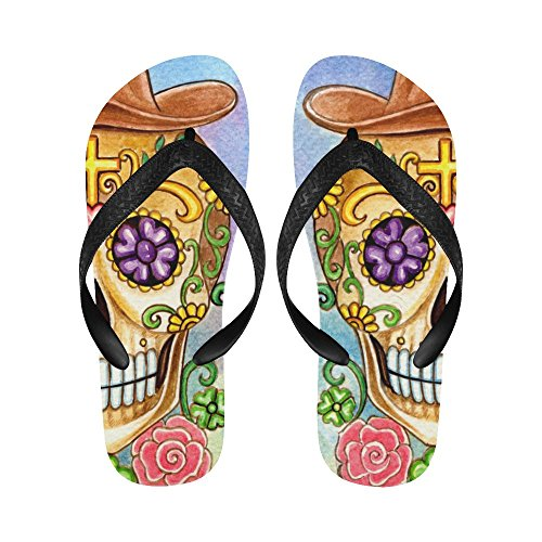 Women Flip Dead Beach The Sandals Day Men Flops D Story Of For Skull Art WYqHU0HO