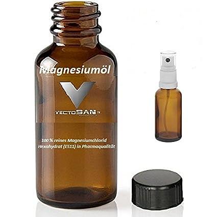 2 Botellas de 1000 ml de aceite de magnesio de calidad premium + adicional de VECTOSAN