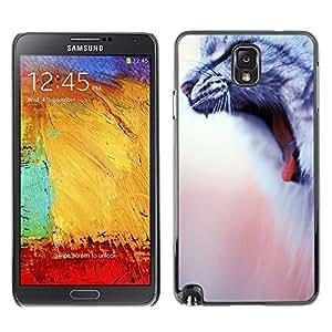 YiPhone /// Prima de resorte delgada de la cubierta del caso de Shell Armor - American Wirehair Cat House Yawn - Samsung Galaxy Note 3 N9000 N9002 N9005