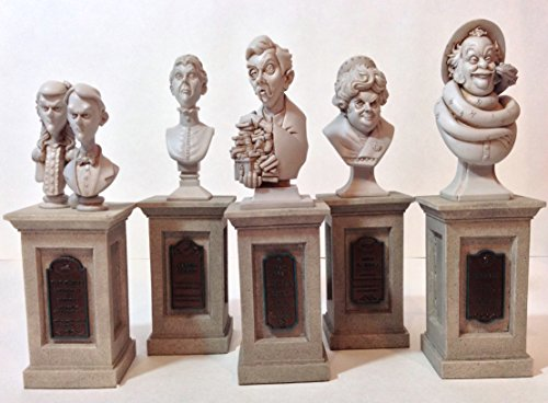 Disneyland Haunted Mansion 45th 5 Piece Bust Set WDW Line Riddle Statue -