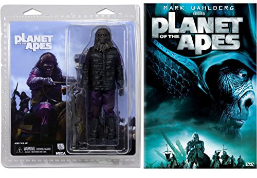 "Planet of the Apes (2001) Movie Giftset with NECA Gorilla Soldier 7"" Retro Action Figure 2-piece Bundle"