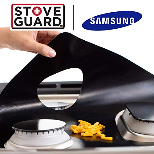 Samsung Stove Protectors - Stove Top Protector for Samsung Gas Ranges - Ultra Thin Easy Clean Stove Liner by StoveGuard (Image #2)