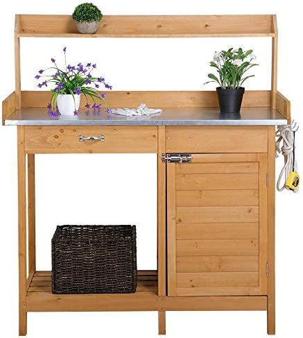 Yaheetech Outdoor Potting Tabletop Cabinet product image
