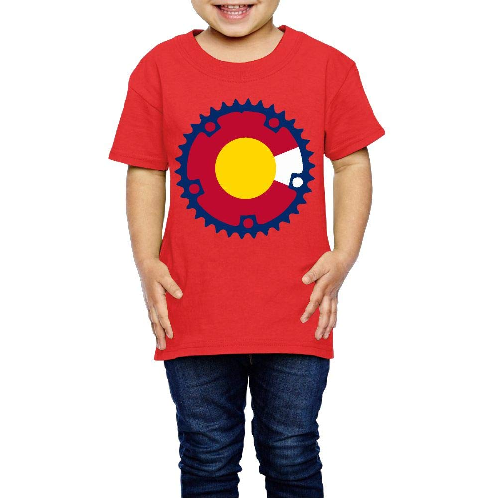 XYMYFC-E Chainring Colorado Flag 2-6 Years Old Child Short-Sleeved T Shirts