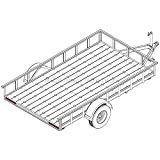 "6′ 10"" x 12′ Utility Trailer Plans – 5,200 lb Capacity   Trailer Blueprints Model U82-144-52J"