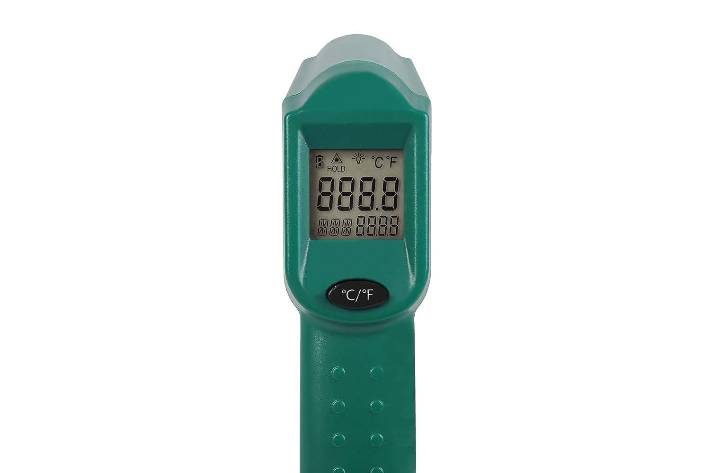rango de medici/ón de -40 /°C a 530 /°C, incluye 2 pilas VONROC Term/ómetro digital por infrarrojos con l/áser
