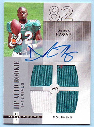 Derek Hagan 2006 Hot Prospects Quad Rookie Worn Jersey Authentic Autograph #209 - 482/999 - Miami (Quad Autograph)