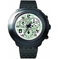 RSW Men's 4130.1.1.25.00 Volante Black Round White Dial Chronograph Sapphire Crystal Watch