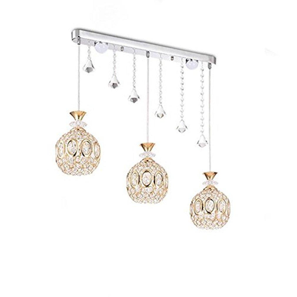 BESPD Einfache moderne Kronleuchter Pendelleuchten für Esszimmer Wohnzimmer 3 15 W warmes Licht Led + 10 W warmes Licht Led lange Platte