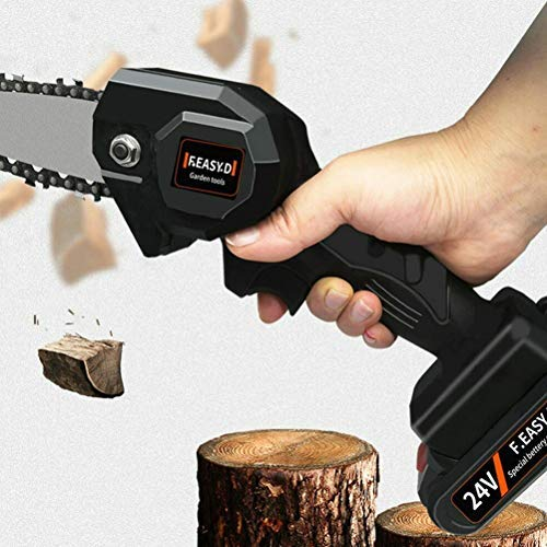 Mini Cordless Electric Chainsaw Protable Handheld Chainsaw,Lightweight Pruning Shears Chainsaw for Tree Branch Wood Cutting NNGT Protable Chainsaw