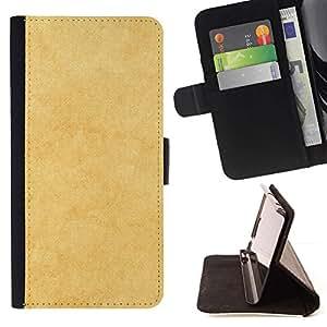 Momo Phone Case / Flip Funda de Cuero Case Cover - Textura amarilla - HTC Desire 626