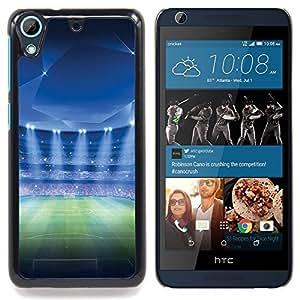 """Estadio de fútbol"""" - Metal de aluminio y de plástico duro Caja del teléfono - Negro - HTC Desire 626 626w 626d 626g 626G dual sim"""