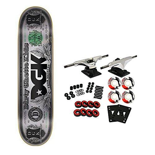 DGK Skateboard Complete Hundo Foil Silver 8.06