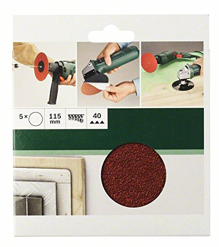 Bosch 2609256B36 5-Piece Sanding Sheet Set for Angle Grinders 115 40