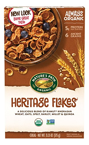 Nature's Path Organic Cereal, Heritage Flakes, 13.25 Ounce Box (Pack of 6)