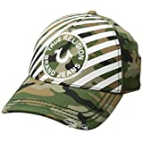 True Religion Men's Striped Camo Baseball Cap, Olive, OSFA