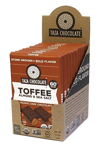 Organic Toffee - Amaze Bar Variation (Toffee, Almond & Sea Salt, 10 Count)
