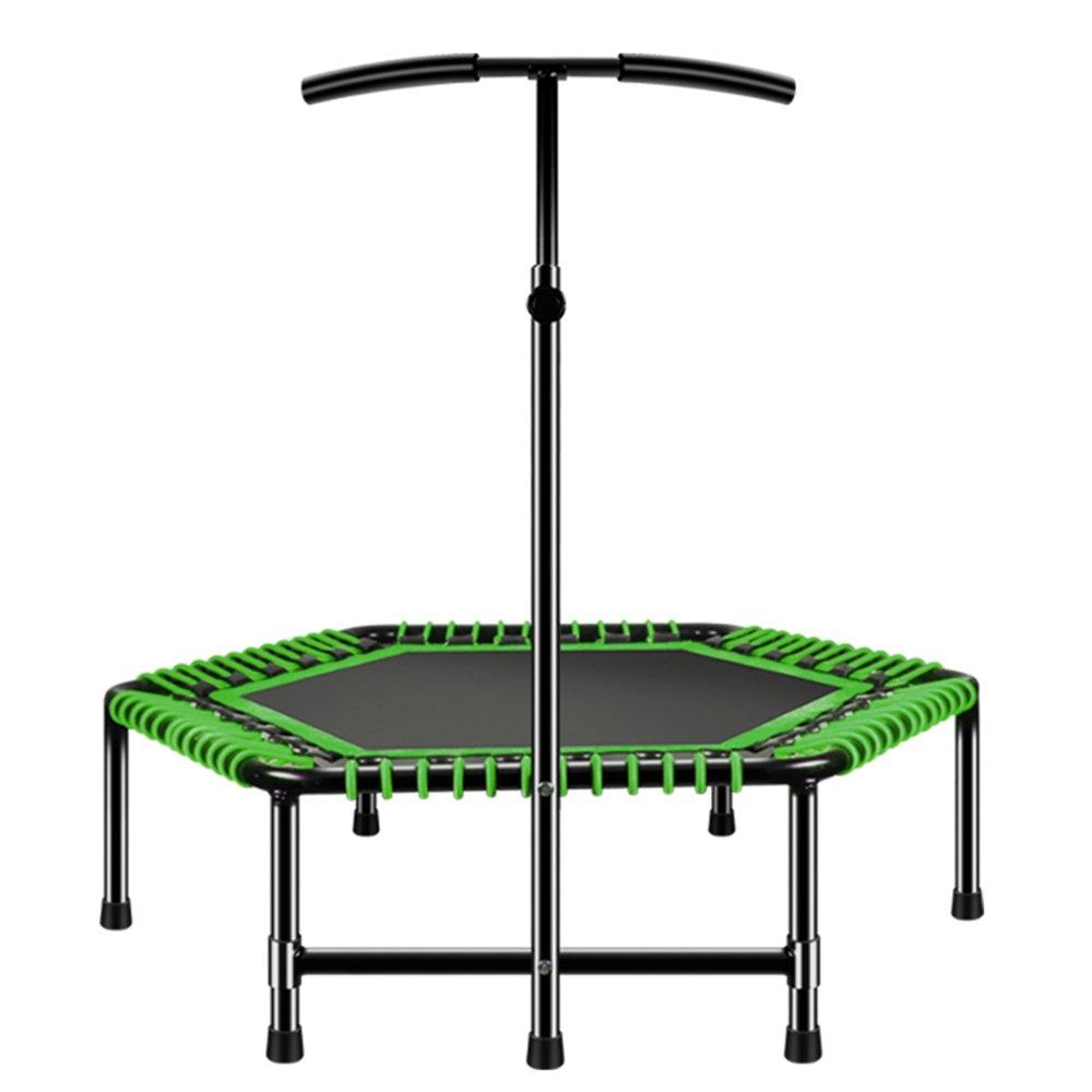 大人のジムフィットネス機器トランポリン48インチ家庭の屋内の子供たちは、跳躍ベッドのベッドを飛ばす (色 : オレンジ) B07D7K5R7H 緑  緑