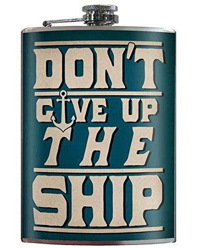 最も優遇の ないGive Up the Shipフラスコby the Trixie Trixie Shipフラスコby & Miloノーティカルテーマウェディングギフトアンカーヴィンテージスタイルフラスコ B079GBZP3L, ふみふみ本舗:047a556b --- a0267596.xsph.ru