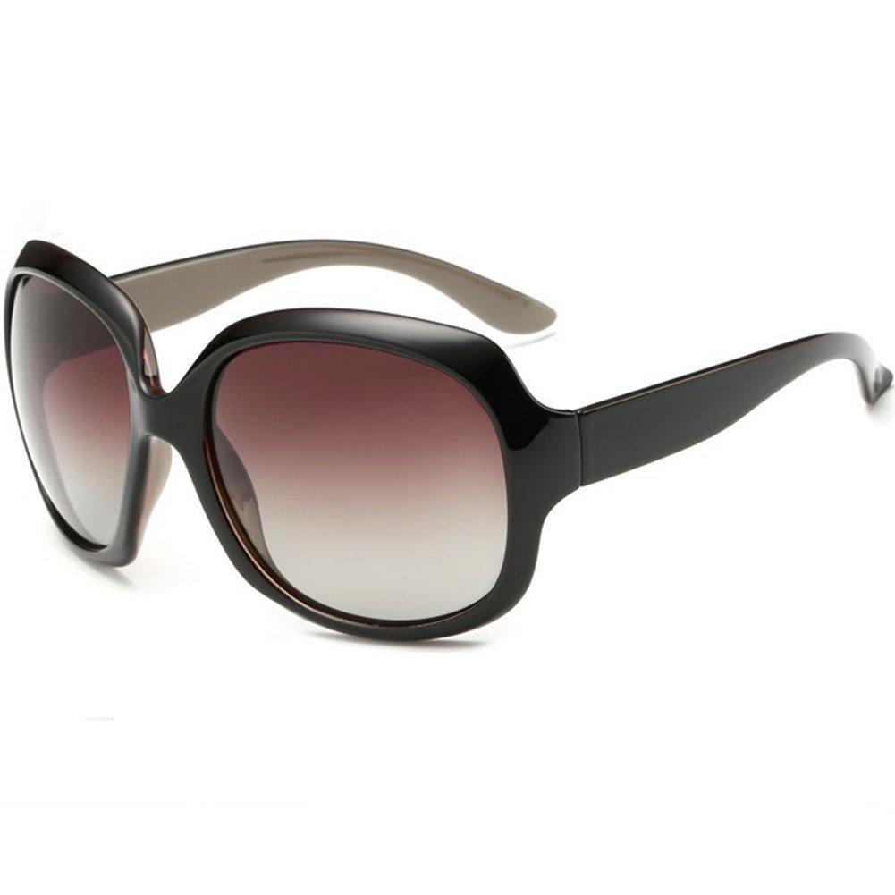 MOTINE Oversized Women's Polarized Sunglasses Fashion Sunglasses UV400 (Coffee)