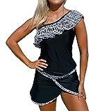 DISSA S410201 Women Black-1 Tankini Swimsuit,XXXL-UK20