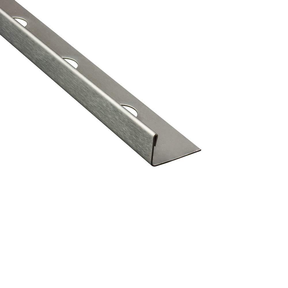 L-Profil Edelstahlschiene Fliesenprofil Fliesenschiene Edelstahl V2A L250cm 10mm geb/ürstet