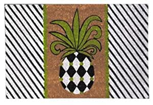 "Pineapple Welcome Black & Green Coir 18"" x 30"" Doormat"