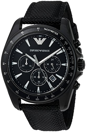 Emporio Armani Men's AR6131 Sport Black Nylon Quartz Watch