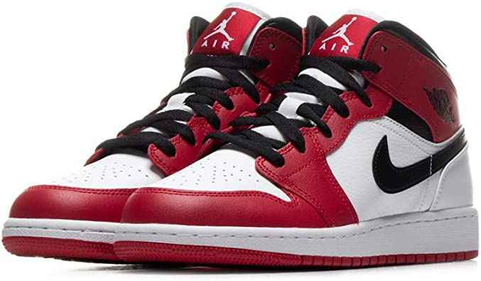 Jordan Older Kid's Shoes Nike Air 1 Mid Chicago (GS) 554725-173