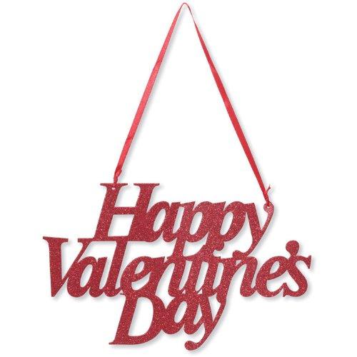 Valentine`s Day Glitter Sign